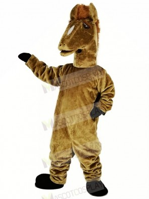 Brown Mustang Mascot Costume Animal