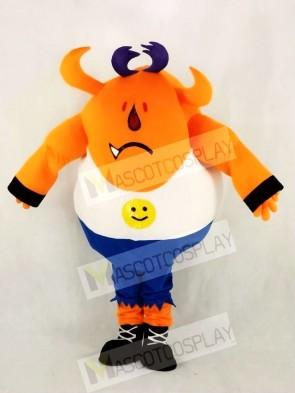 Orange Monster with Long Ears Mascot Costume School