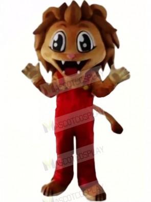 Realistic Brown Lion Mascot Costumes Cartoon