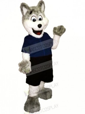 Funny Dog with Blue T-shirt Mascot Costumes Cartoon