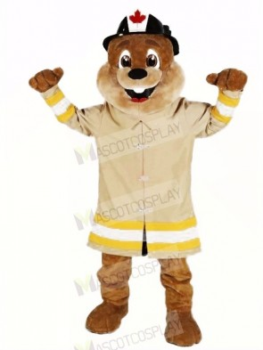 Fire Protection Beaver Mascot Costumes Cartoon