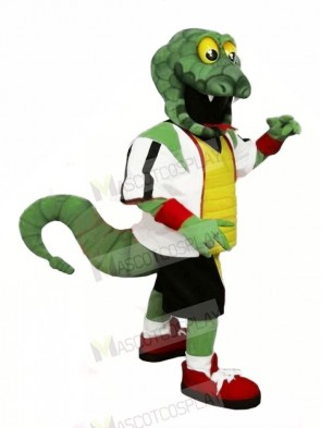 Strong Green Snake Mascot Costumes Cartoon