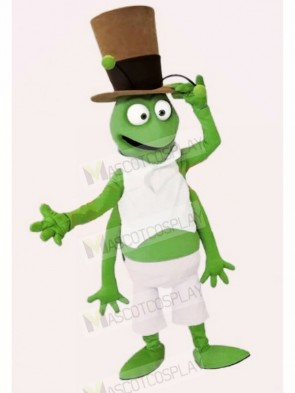 Grasshopper with Black Hat Mascot Costumes