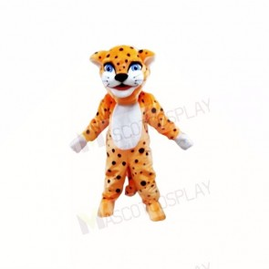 Smiling Friendly Lightweight Leopard Mascot Costumes Cartoon