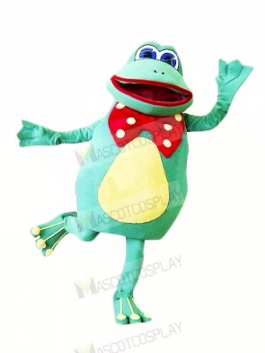 Happy Female Frog Mascot Costumes Cartoon