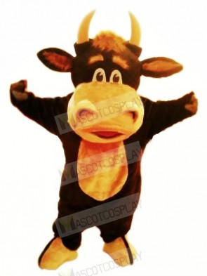 Happy Bull Mascot Costumes Cartoon