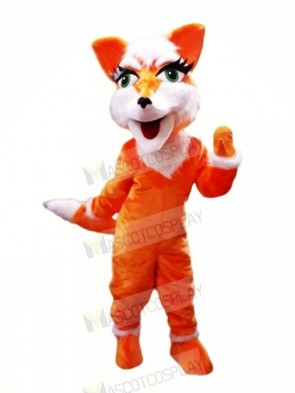 Orange Fox with Big Eyes Mascot Costumes Cheap