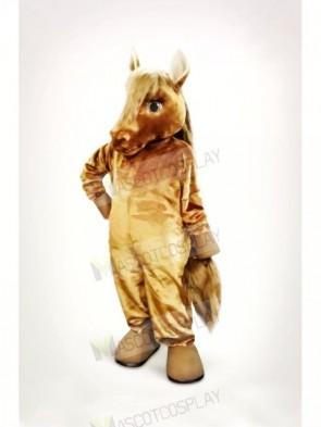 Lovely Brown Horse Mascot Costume Cartoon