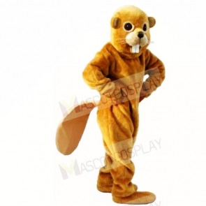 Friendly Yellow Lightweight Beaver Mascot Costumes Adult