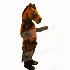Top Quality Brown Mustang Mascot Costumes Adult
