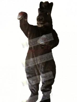 Power Black Horse Mascot Costumes Cartoon