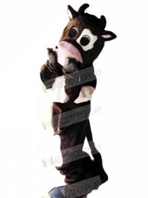 Shy Cow Mascot Costumes Cartoon