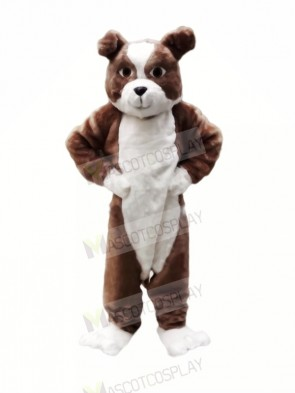 Plush Brown Bulldog Mascot Costumes Cartoon
