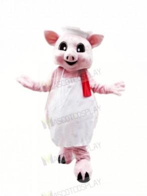 Pink Pig Chef Mascot Costumes Cartoon