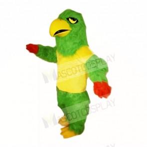 Green Falcon with Yellow Shirt Mascot Costumes School