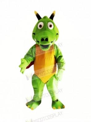 Lightweight Green Dragon Mascot Costumes Cartoon