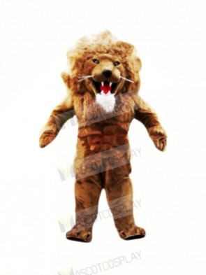 Fierce Muscular Lion Mascot Costumes