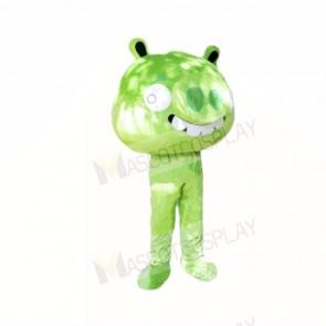 Green Pig Mascot Costumes Cartoon