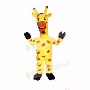 Yellow Friendly Lightweight Giraffe Mascot Costumes Cartoon