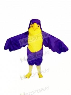 Purple Falcon Mascot Costumes Cartoon