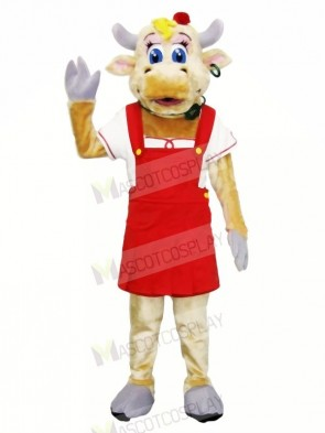 High Quality Female Cow Mascot Costumes Adult