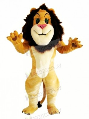 Happy Smiling Lion Mascot Costumes Cartoon