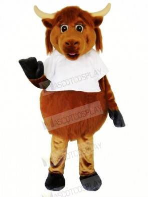 Furry Brown Cow Mascot Costumes Adult