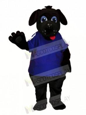 Black Dog with Big Eyes Mascot Costumes Animal