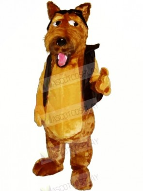 Brown Dog with Black Vest Mascot Costumes