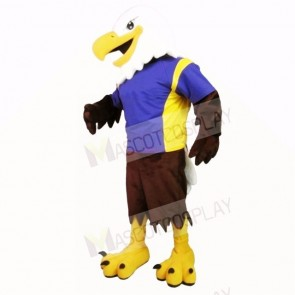 Sporty Eagle with Blue Shirt Mascot Costumes college