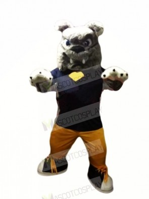 Power Furry Bulldog Mascot Costumes Cartoon