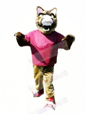 Fierce Jaguar with Purple T-shirt Mascot Costumes
