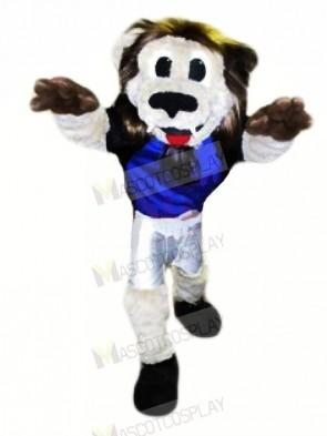 Grey Lion Mascot Costumes Adult