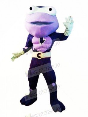 Hero Purple Frog Mascot Costumes Cartoon