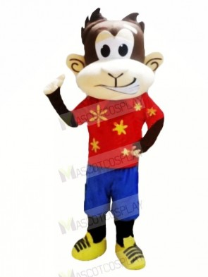 Funny Monkey with Red T-shirt Mascot Costumes Cheap