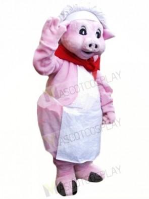 Chef Pink Pig Mascot Costumes