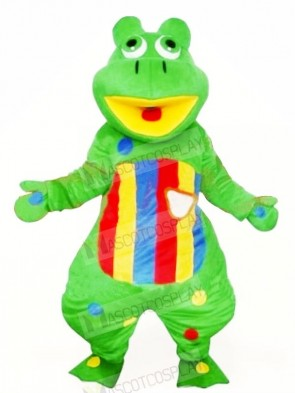 Lovely Green Frog Mascot Costumes Cheap