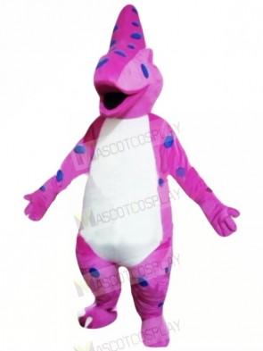 Purple Dinosaur Mascot Costume cartoon