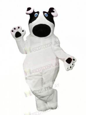 Lovely White Dog Mascot Costume Cartoon
