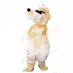 Smiling Sunglasses Dog Mascot Costumes Cartoon