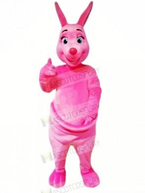 Pink Kangaroo Mascot Costumes Cartoon