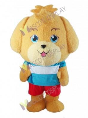 Yellow Lovely Little Puppy Dog Mascot Costume