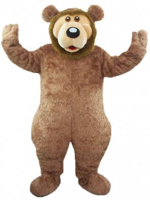 Brown Bear Plush Adult Mascot Costume
