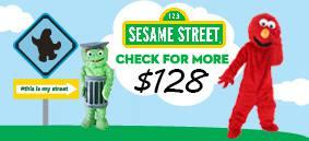 sesame street mascot costume